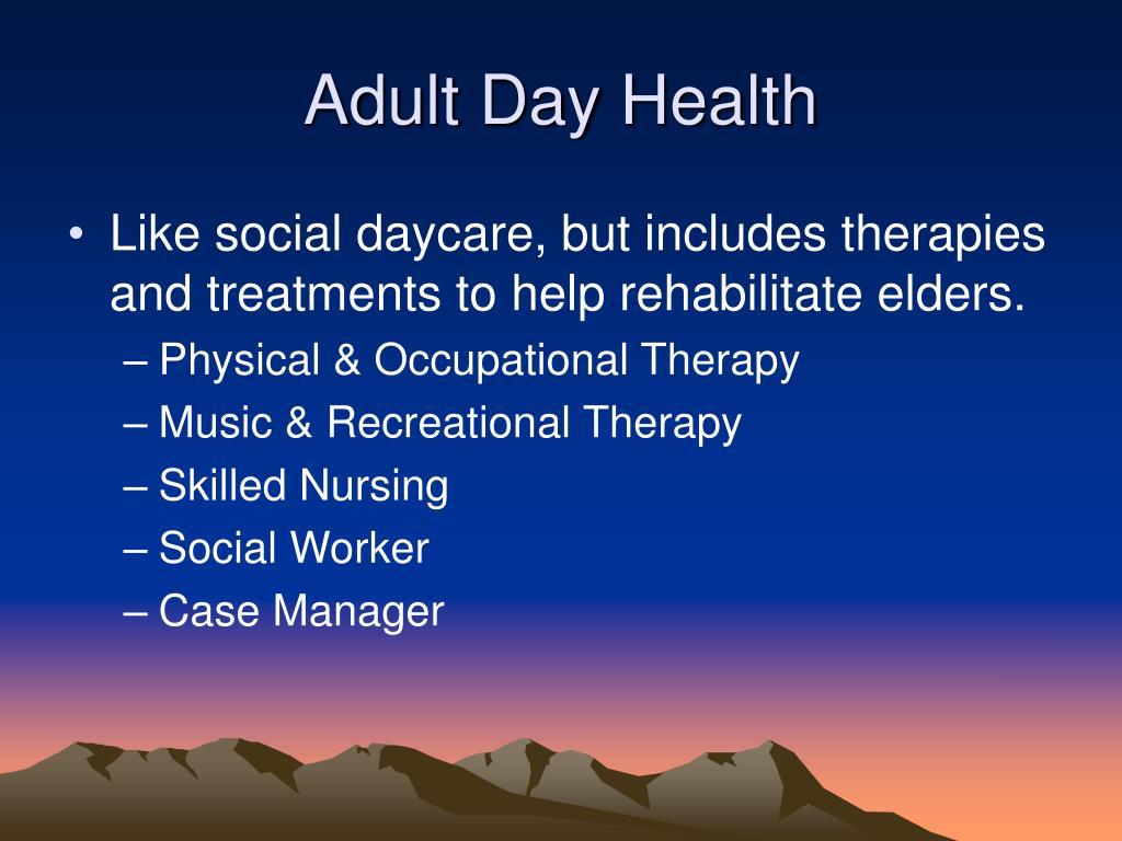 Adult Day Health