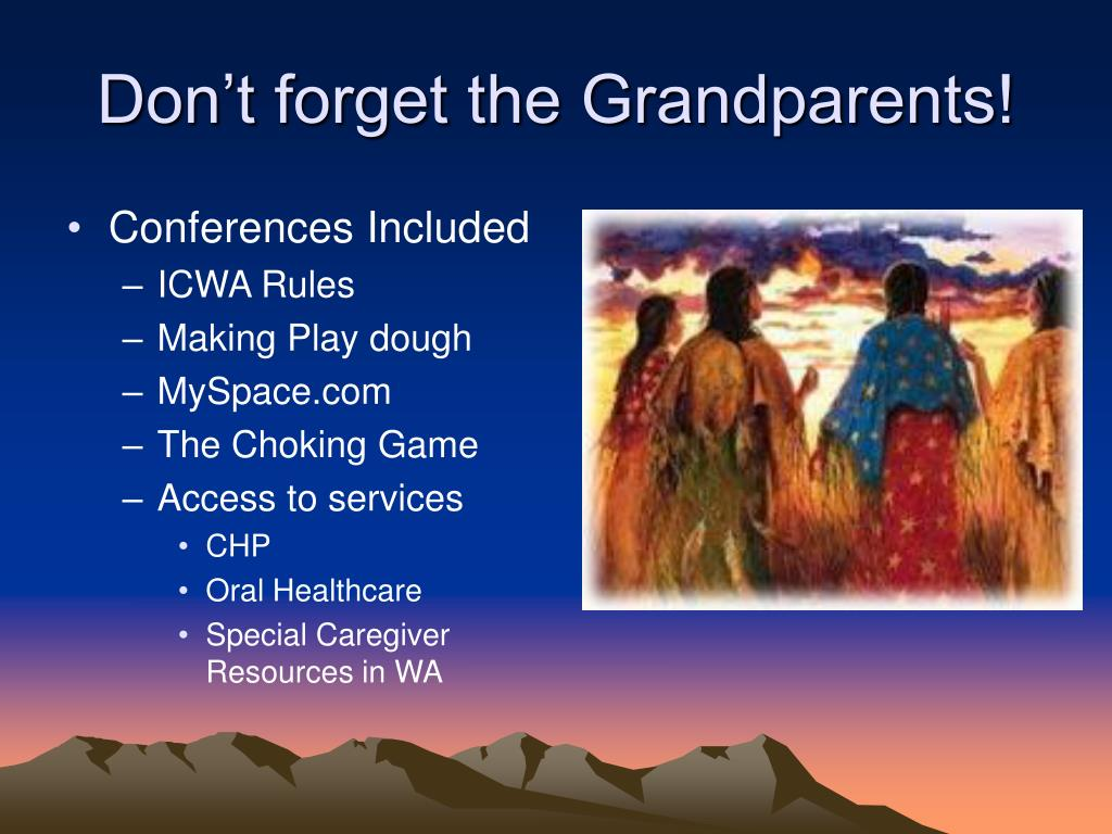 Don't forget the Grandparents!