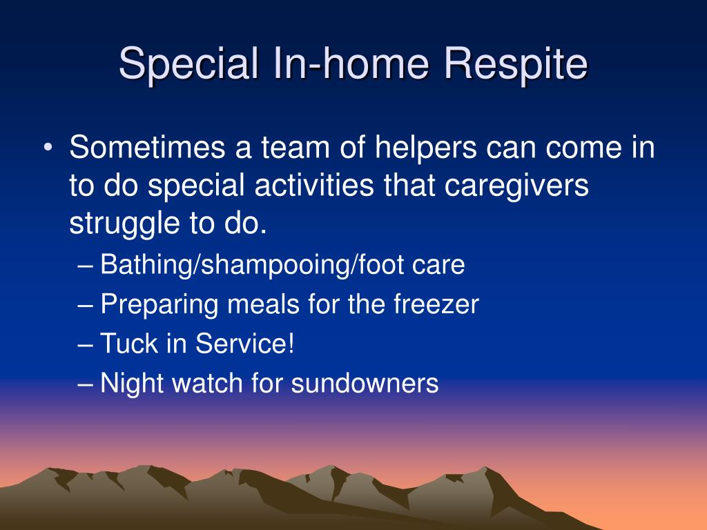 Special In-home Respite
