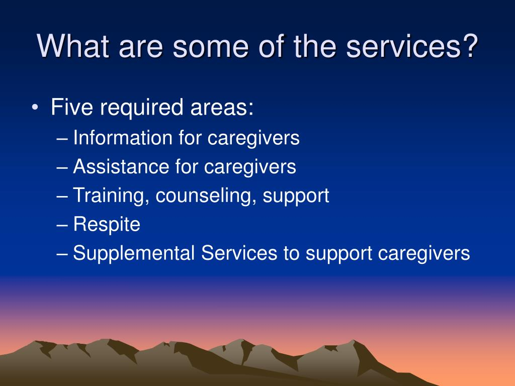 What are some of the services?