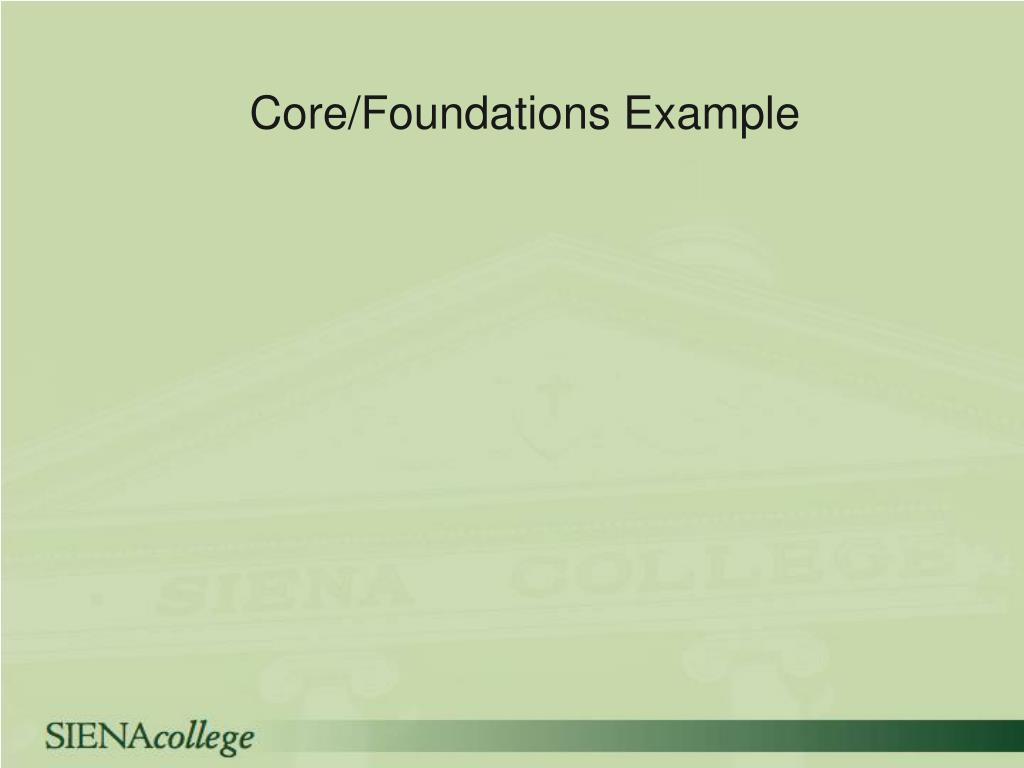 Core/Foundations Example