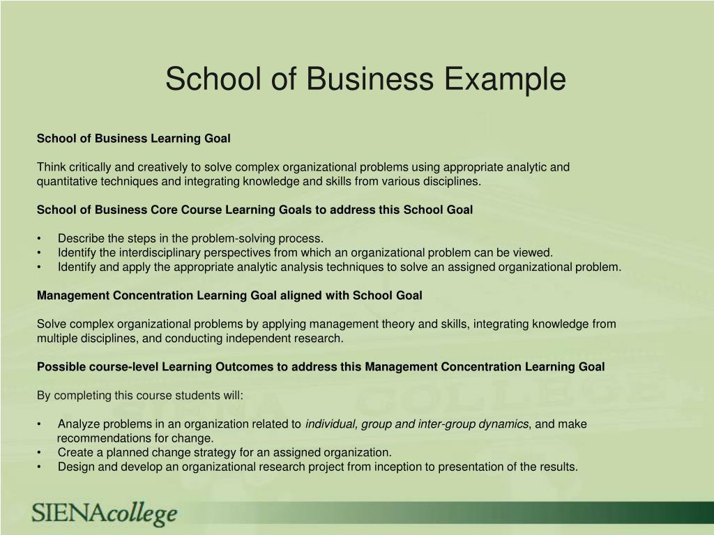 School of Business Example