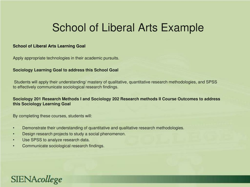 School of Liberal Arts Example