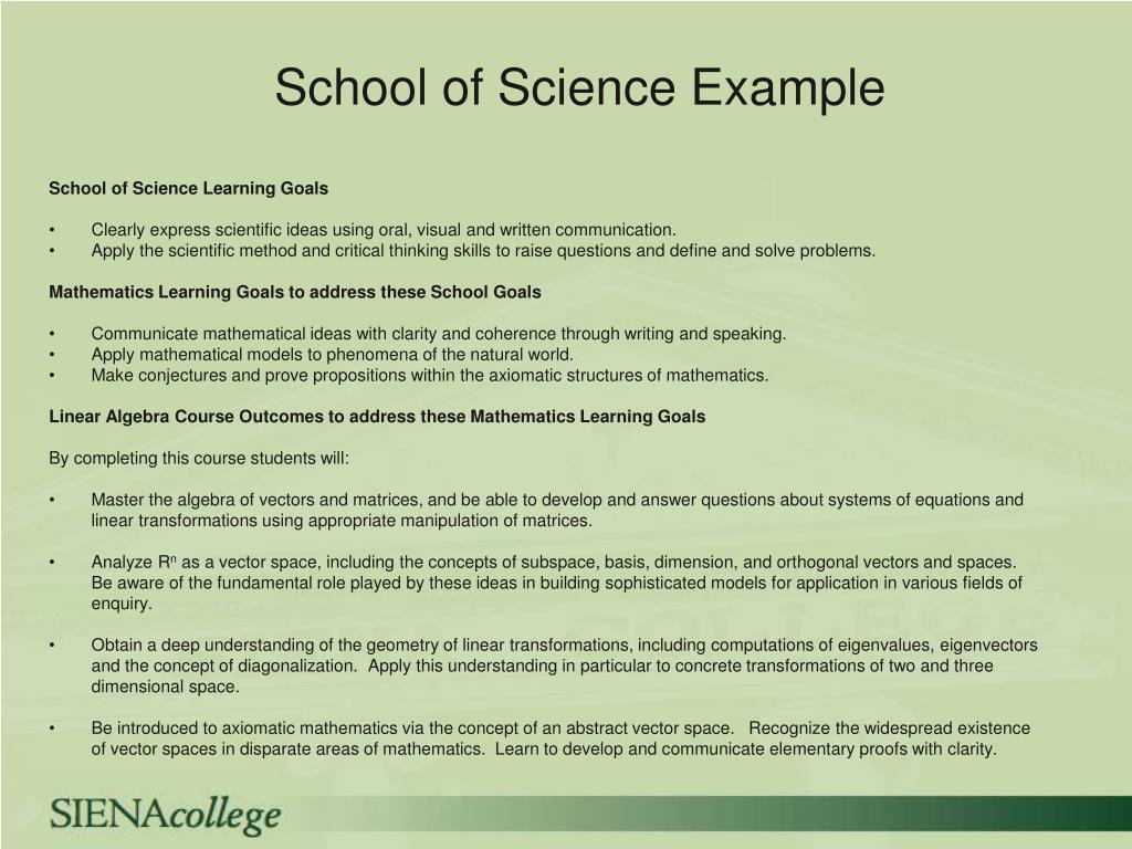 School of Science Example