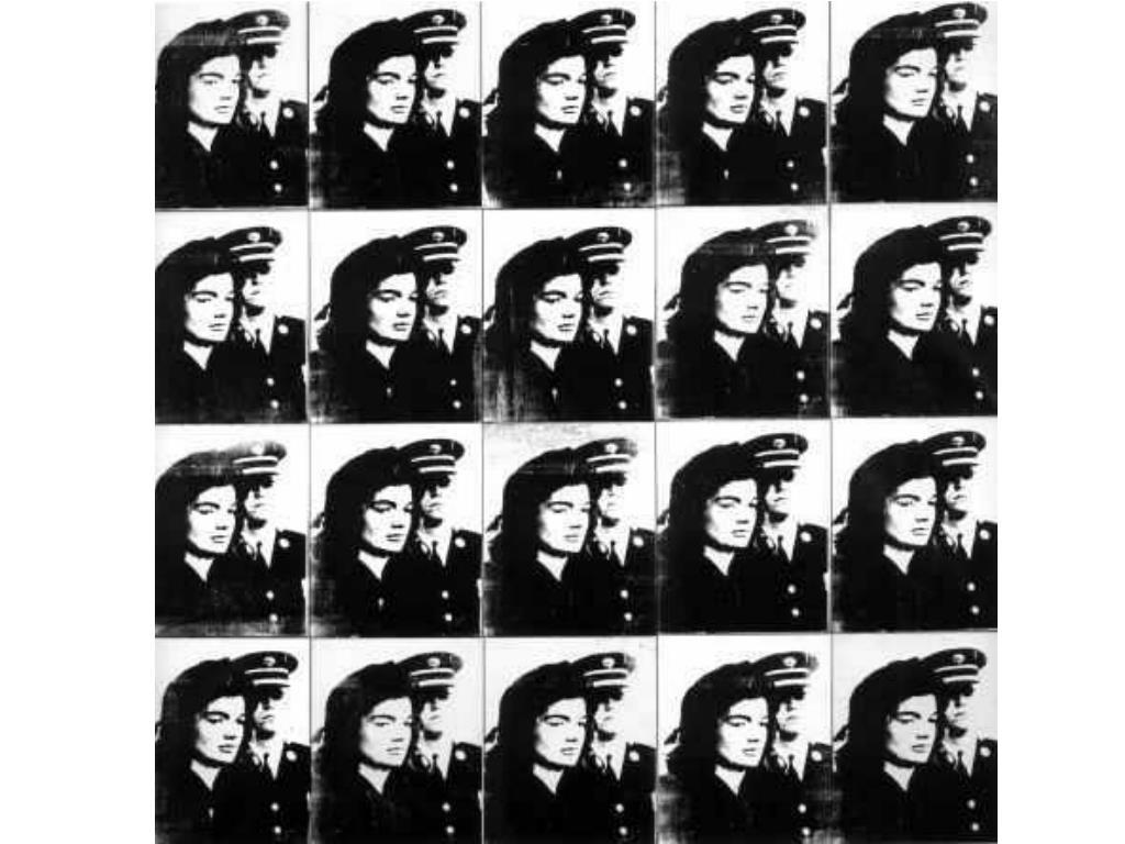 Andy Warhol : Twenty Jackies (Vingt Jackies) - 1964 - acrylique et Liquitex sur toile, sérigraphie