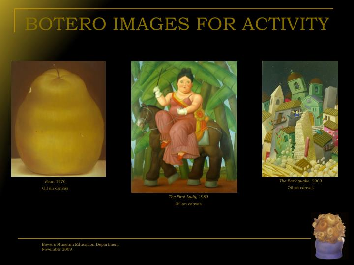 BOTERO IMAGES FOR ACTIVITY