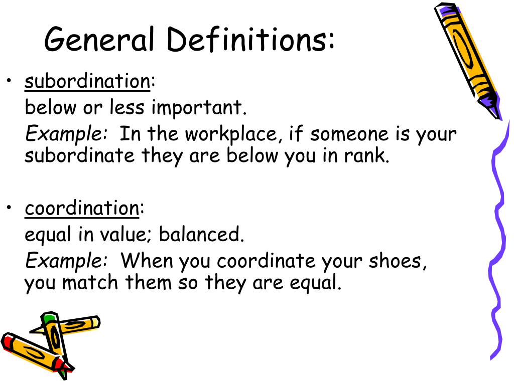 General Definitions: