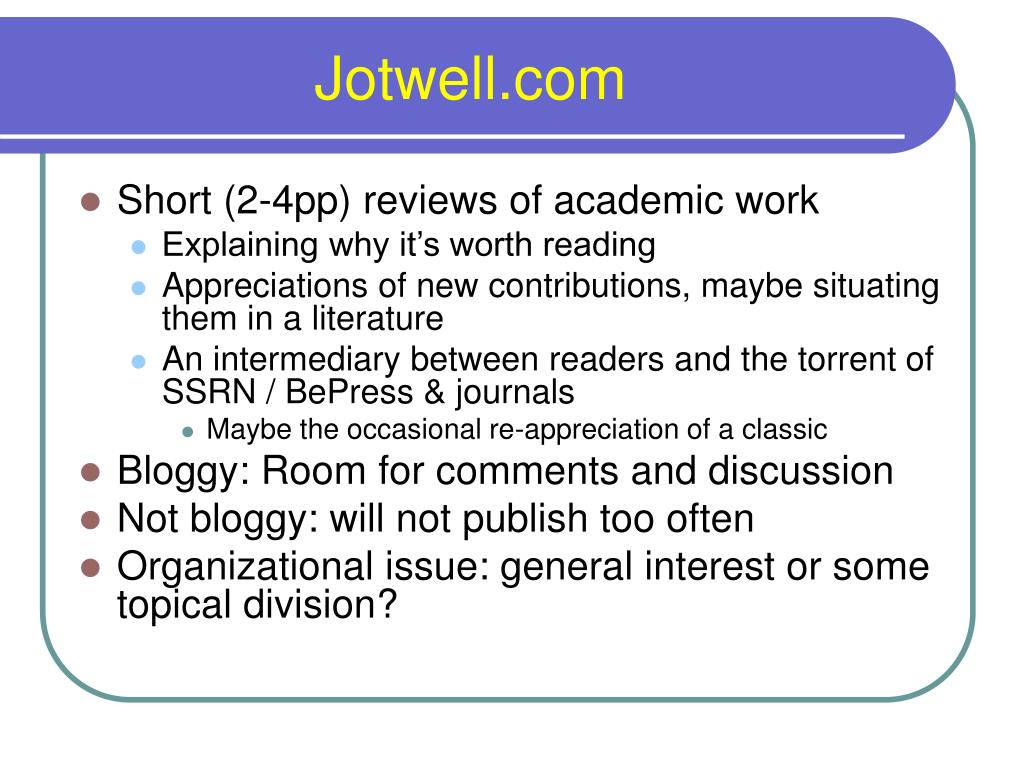 Jotwell.com