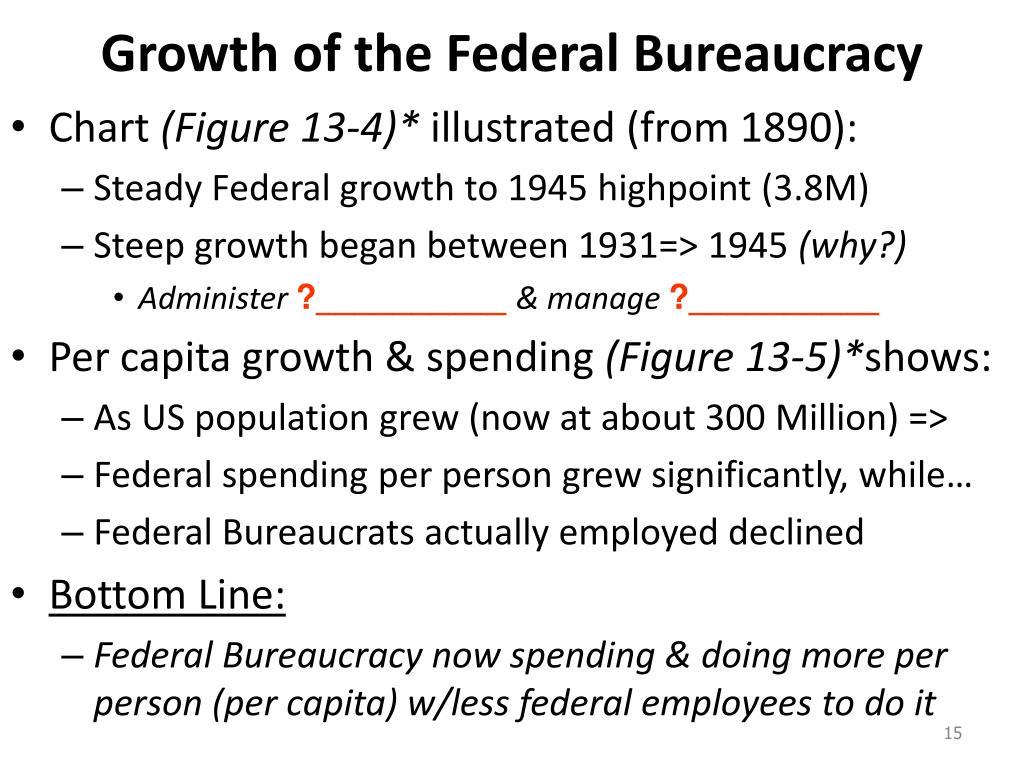 Growth of the Federal Bureaucracy