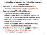 political constraints on the federal bureaucracy the president