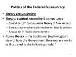 politics of the federal bureaucracy