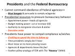presidents and the federal bureaucracy