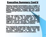 executive summary cont d