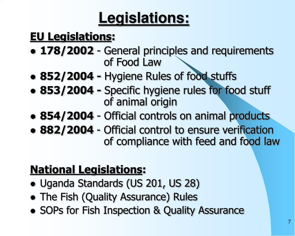 Legislations: