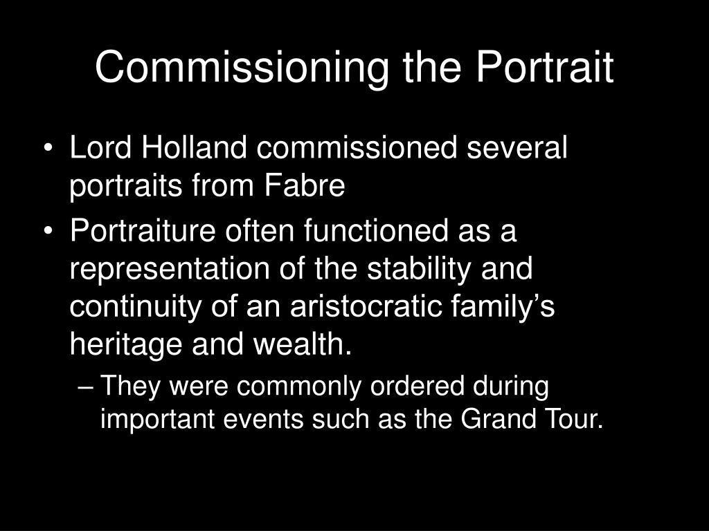 Commissioning the Portrait