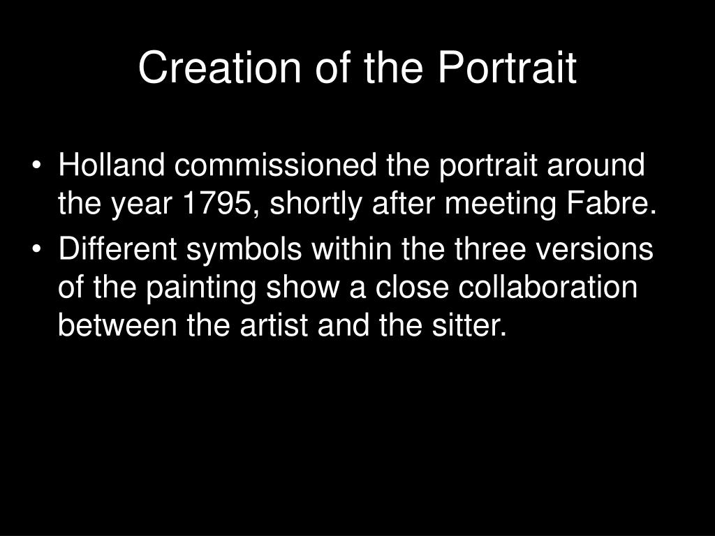 Creation of the Portrait