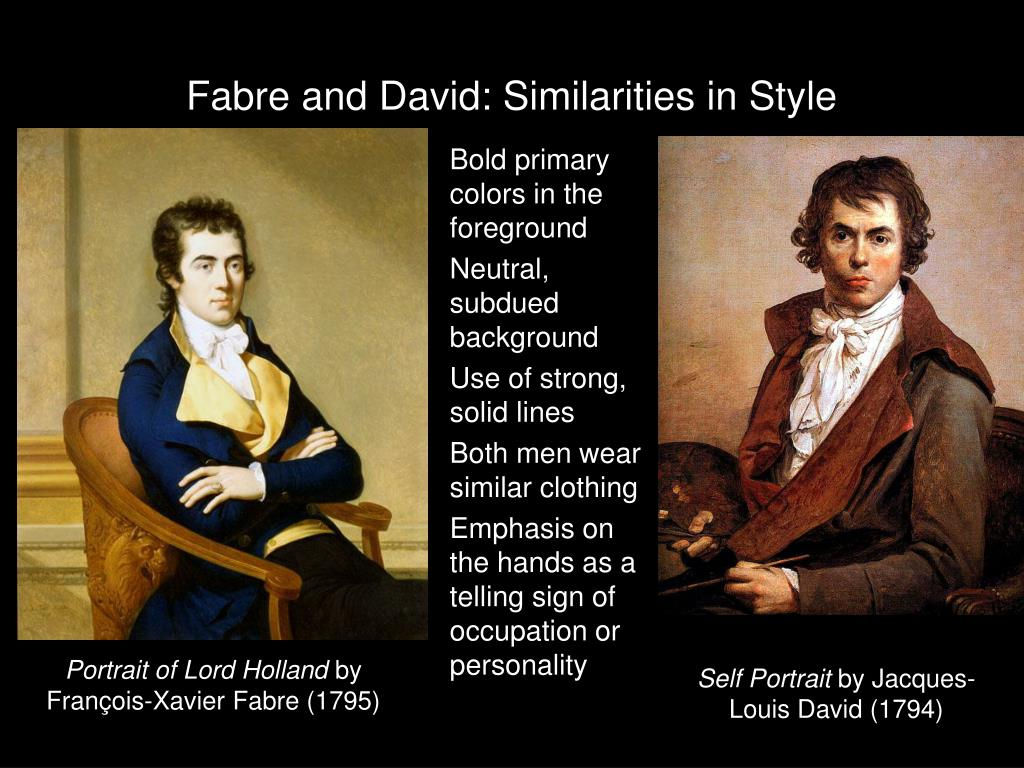Fabre and David: Similarities in Style