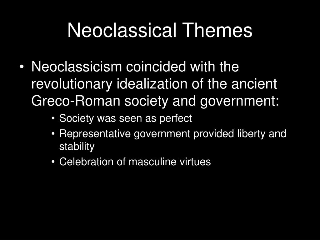 Neoclassical Themes