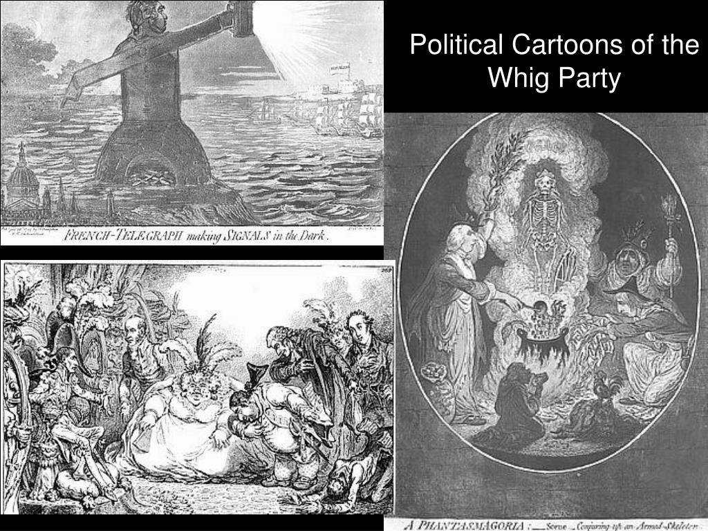 Political Cartoons of the Whig Party