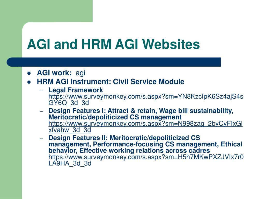 AGI and HRM AGI Websites