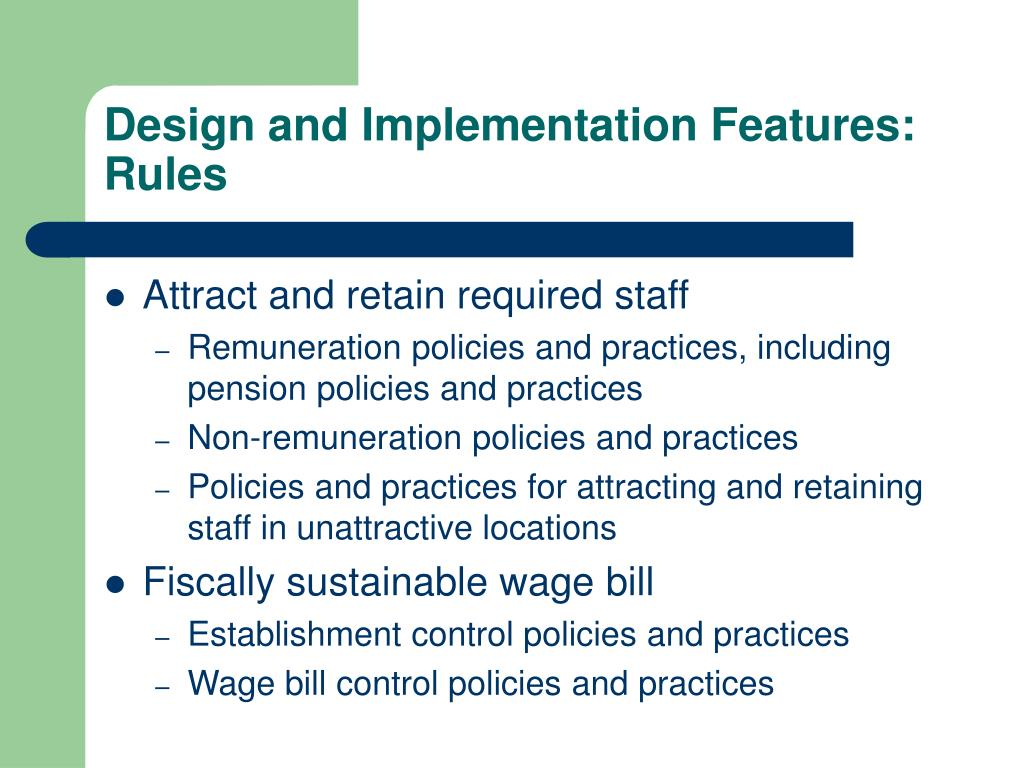 Design and Implementation Features: Rules