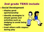 2nd grade teks include33