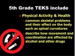 5th grade teks include39