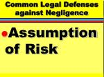 common legal defenses against negligence