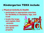 kindergarten teks include27
