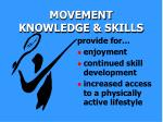 movement knowledge skills