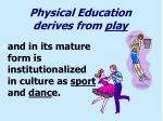 physical education derives from play