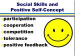 social skills and positive self concept