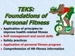 teks foundations of personal fitness