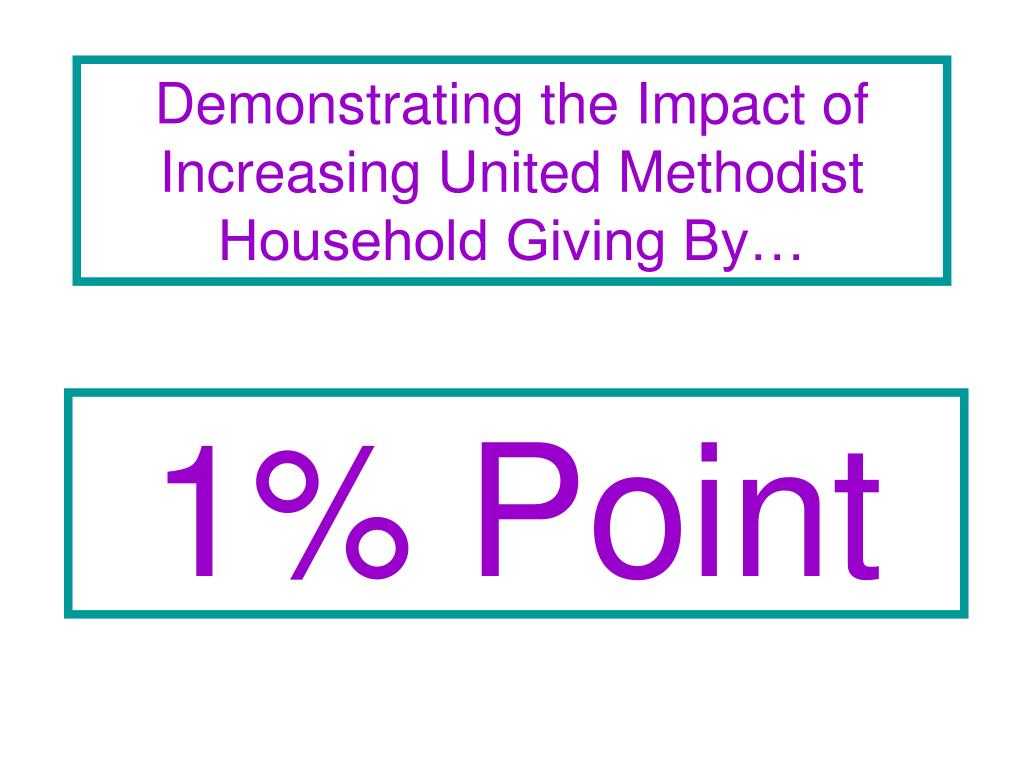 Demonstrating the Impact of Increasing United Methodist Household Giving By…