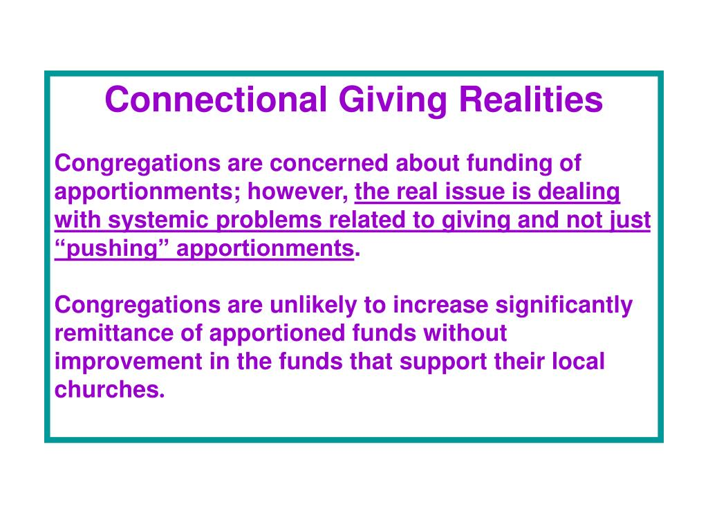 Connectional Giving Realities