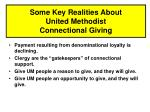 some key realities about united methodist connectional giving