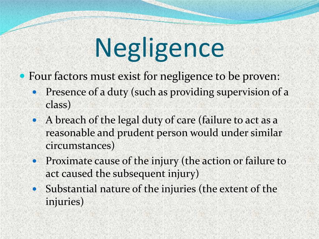 breach of duty of care essay Negligence duty of care oestablished or novel duty ois it a non-delegable duty owhat is the scope of the duty breach of duty owhat is the relevant standard of care ohas the standard been breached.