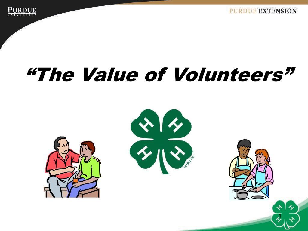"""The Value of Volunteers"""