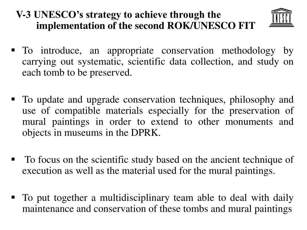 V-3 UNESCO's strategy to achieve through the implementation of the second ROK/UNESCO FIT