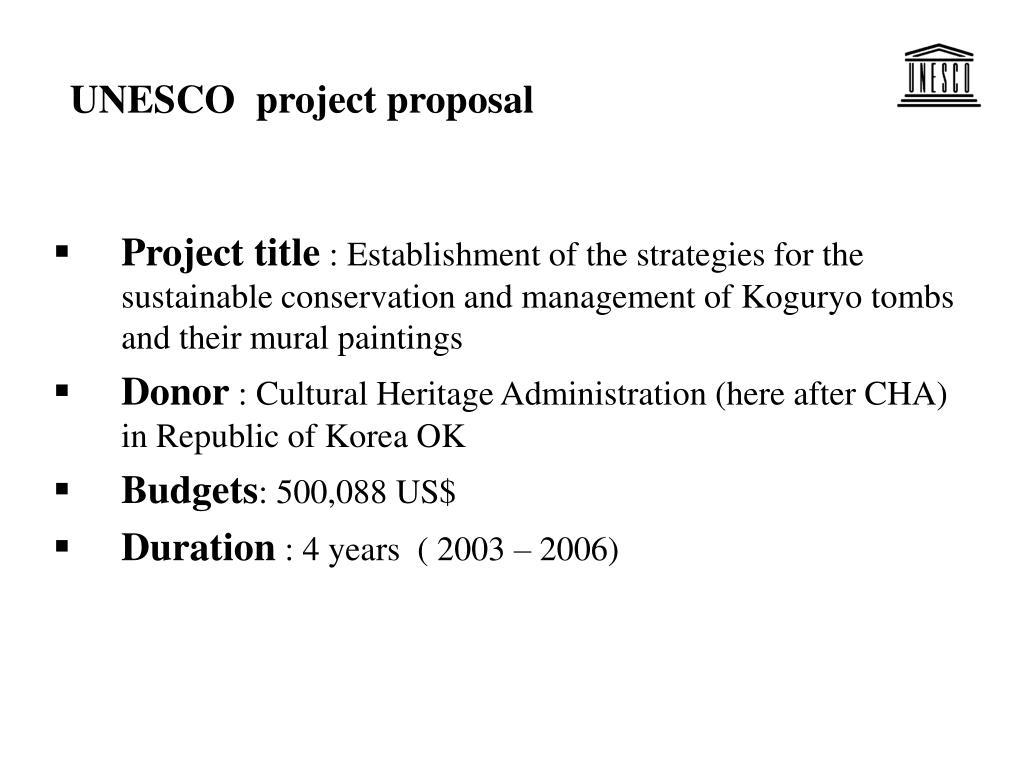 UNESCO  project proposal