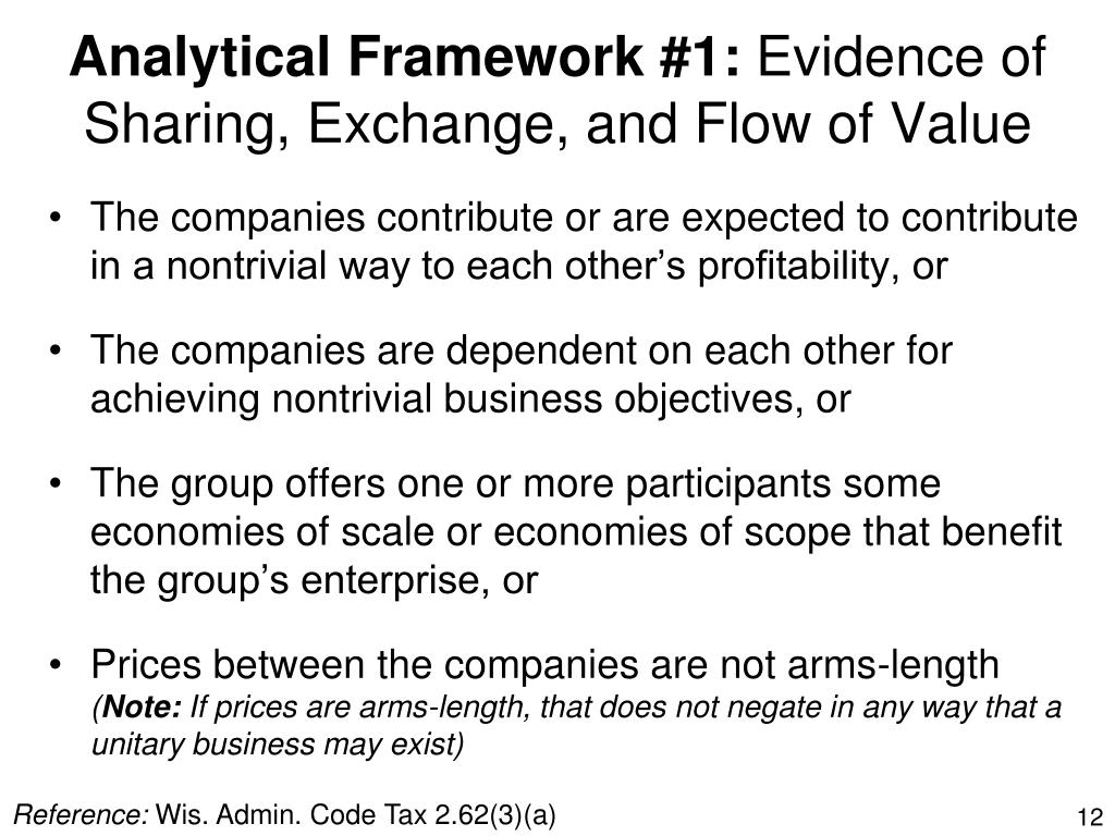 Analytical Framework #1:
