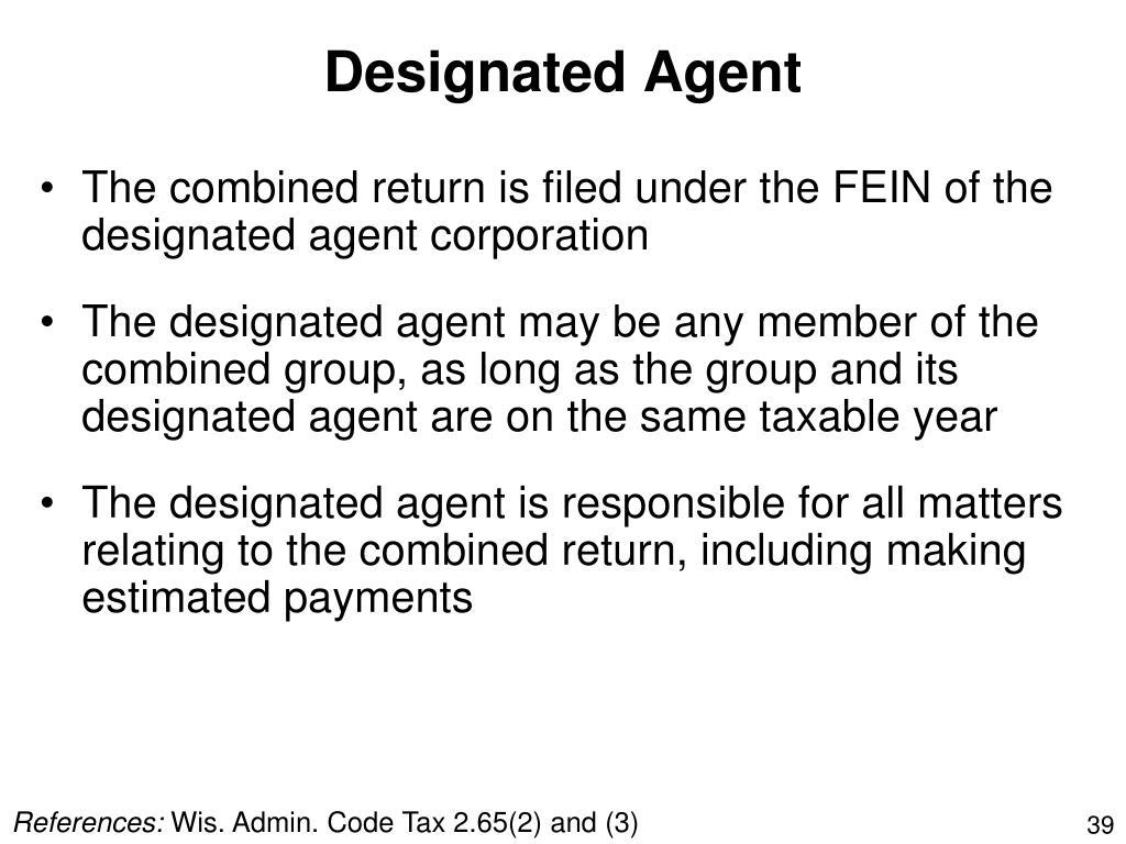 Designated Agent