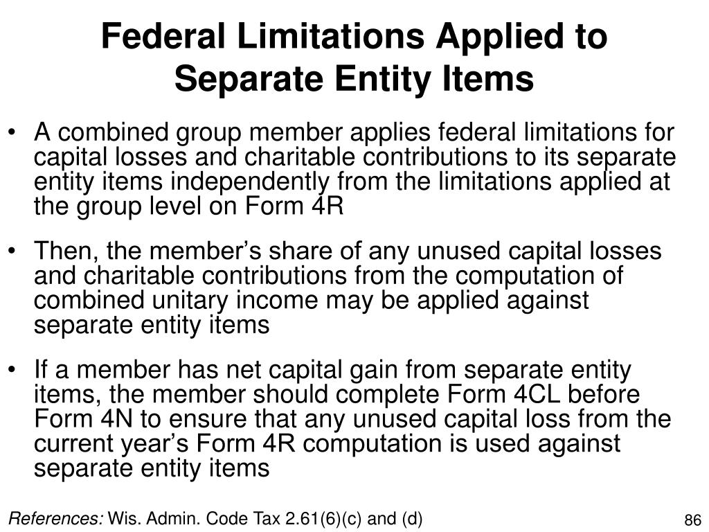 Federal Limitations Applied to