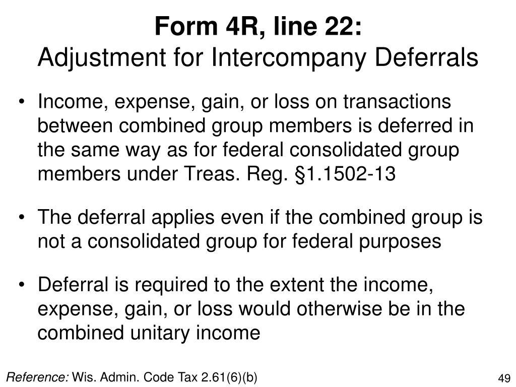 Form 4R, line 22: