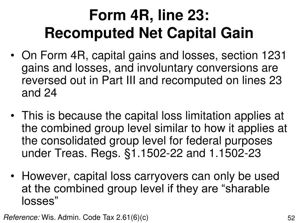 Form 4R, line 23: