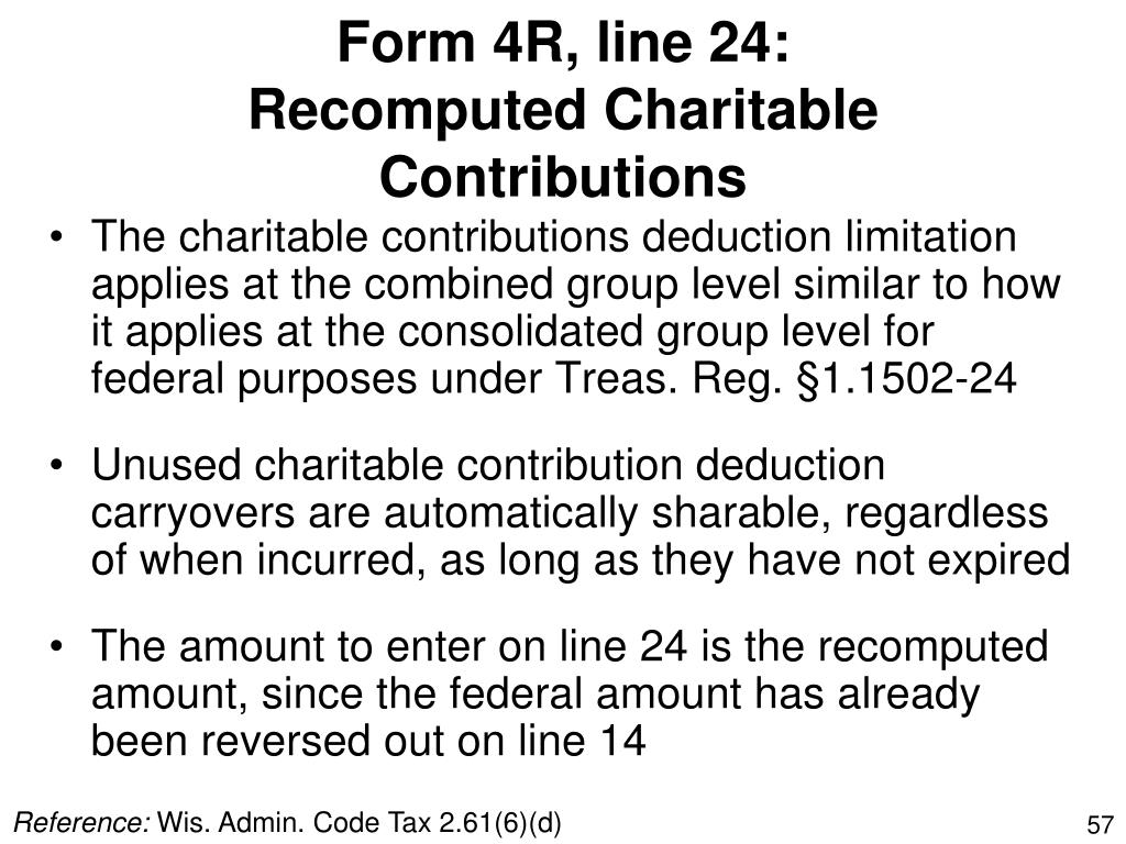 Form 4R, line 24: