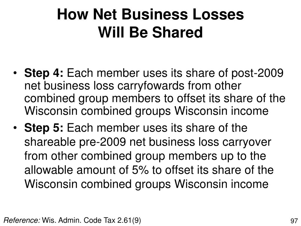 How Net Business Losses