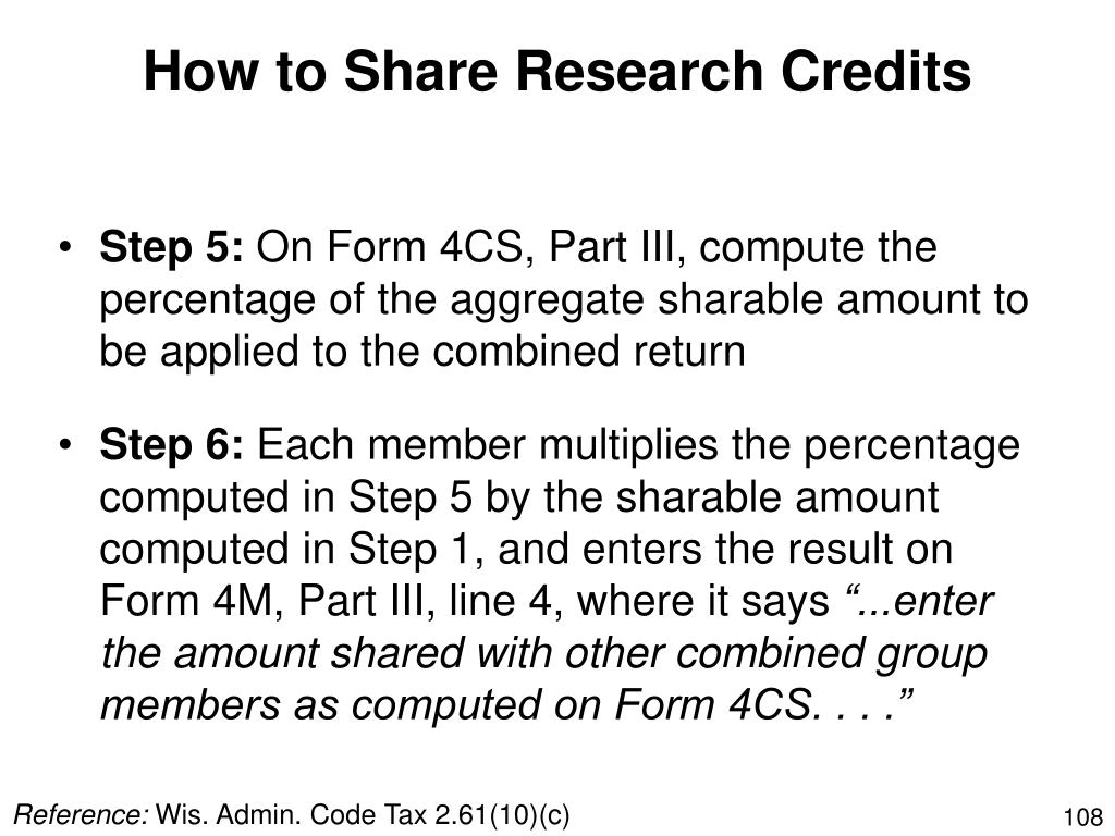 How to Share Research Credits