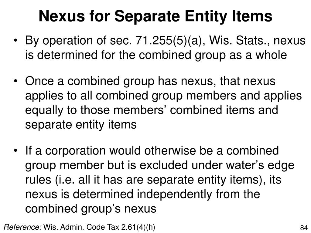 Nexus for Separate Entity Items