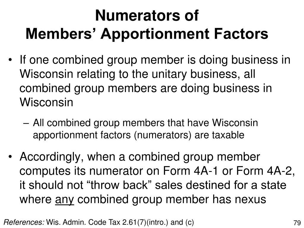 Numerators of